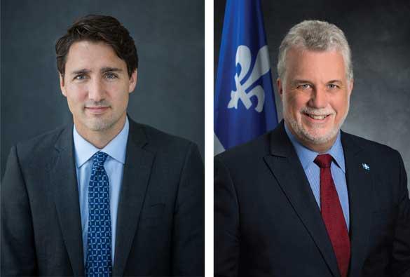 Appui de Justin Trudeau et Philippe Couillard