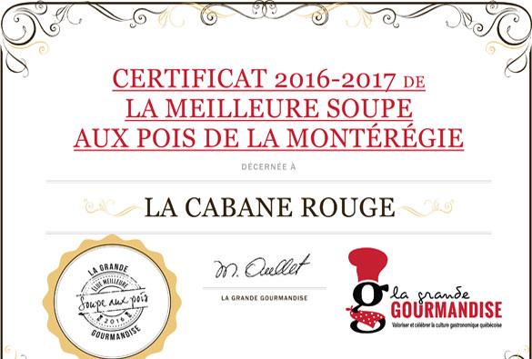 La Cabane Rouge, meilleure soupe aux pois de la Montérégie